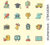education icons | Shutterstock .eps vector #178418384