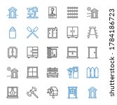 Wooden Icons Set. Collection O...