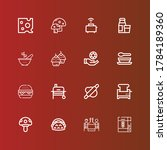 editable 16 meal icons for web... | Shutterstock .eps vector #1784189360