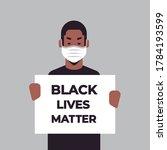 african american man in mask... | Shutterstock .eps vector #1784193599