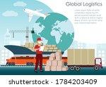 global logistics concept....   Shutterstock .eps vector #1784203409