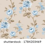 blue vector flowers with brown... | Shutterstock .eps vector #1784203469