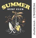 summer surf club illustration... | Shutterstock .eps vector #1784208266