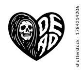grim reaper dead heart black... | Shutterstock .eps vector #1784214206