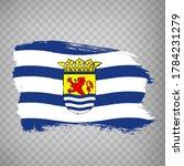 flag of  zeeland brush strokes. ...