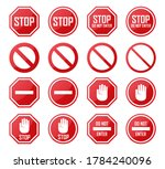 set of stop  no enter ... | Shutterstock .eps vector #1784240096