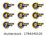 set of days to go with halftone ... | Shutterstock .eps vector #1784240120