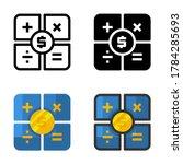 set of calculator icon design...