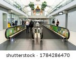 A Moving Walkway In Modern...