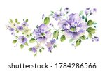 greeting card with flowers ...   Shutterstock . vector #1784286566