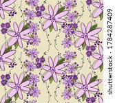 simple cute floral bouquet... | Shutterstock .eps vector #1784287409
