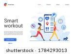 sport training app for people... | Shutterstock .eps vector #1784293013