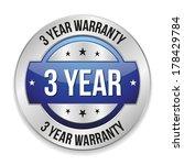 blue metallic three year... | Shutterstock .eps vector #178429784