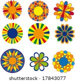 colorful vector shapes | Shutterstock .eps vector #17843077