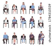 adults and children sitting on... | Shutterstock .eps vector #1784310539