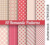 10 Romantic Vector Seamless...