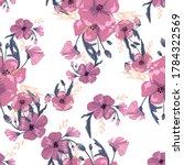 simple cute floral bouquet... | Shutterstock .eps vector #1784322569