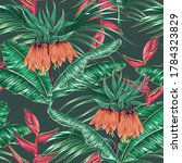 tropical blooming exotic...   Shutterstock .eps vector #1784323829