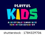 kids style colorful font ... | Shutterstock .eps vector #1784329706