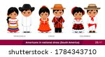 venezuela  chile  colombia. men ... | Shutterstock .eps vector #1784343710