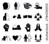 stop racism icons set. simple... | Shutterstock .eps vector #1784350553