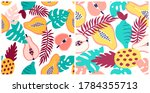 abstract tropical fruits...   Shutterstock .eps vector #1784355713