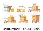 equipment for beekeeping....   Shutterstock .eps vector #1784370356