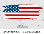 labor day poster. usa national... | Shutterstock .eps vector #1784370386