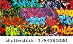 colorful graffiti street art... | Shutterstock .eps vector #1784381030