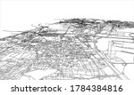 outline city concept. wire... | Shutterstock . vector #1784384816