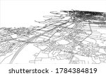 outline city concept. wire...   Shutterstock . vector #1784384819