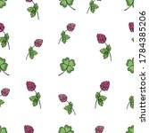 Seamless Pattern Of Flowers Of...