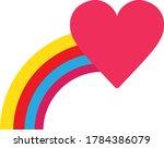 Heart With A Rainbow Tail. Kid...