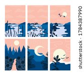 Vector Abstract Landscape Set   ...
