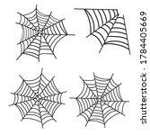 spiderweb vector. spooky corner ...   Shutterstock .eps vector #1784405669