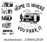 home is where you park it....   Shutterstock .eps vector #1784412929