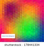 abstract vector polygonal... | Shutterstock .eps vector #178441334