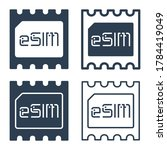 esim chip icons in glyph and... | Shutterstock .eps vector #1784419049