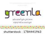elegant modern minimal font.... | Shutterstock .eps vector #1784441963