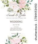 wedding invitation with flowers ... | Shutterstock .eps vector #1784453450