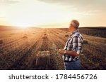 Portrait Of Senior Farmer...