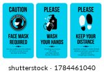 covid sign poster templates.... | Shutterstock .eps vector #1784461040