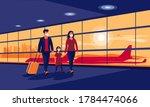 young family traveler wearing...   Shutterstock .eps vector #1784474066