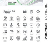 thin line icons set of business ... | Shutterstock .eps vector #1784480483