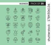 business black line icon   25... | Shutterstock .eps vector #1784506136