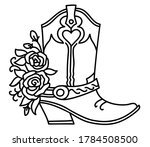 Cowboy Boot And Roses...