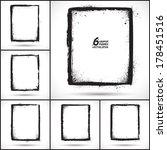 set of grunge 6 vector frames.... | Shutterstock .eps vector #178451516