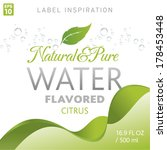 natural   pure flavored water ... | Shutterstock .eps vector #178453448