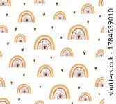 cute baby rainbow pattern with... | Shutterstock .eps vector #1784539010