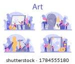 art school education set.... | Shutterstock .eps vector #1784555180